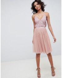 Needle & Thread Falda de tul en rosa vintage