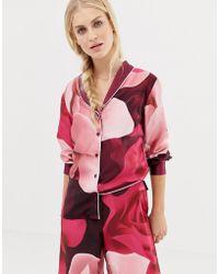 8f40095496ad5b Ted Baker - B By Porcelain Rose Printed Revere Pyjama Top - Lyst