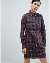 Fred Perry - Reissue Check Shirt Dress - Lyst