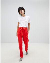 Pieces - Coloured Trouser - Lyst