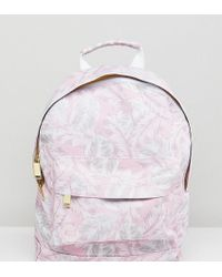 Mi-Pac - Exclusive Mini Tumbled Backpack In Feather Print - Lyst