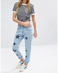 Daisy Street | Mom Jeans With Applique Stars | Lyst