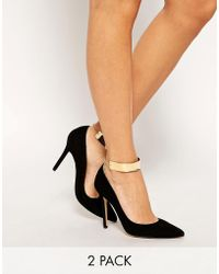 ASOS - Asos Pack Of Two Cuff Anklets - Lyst