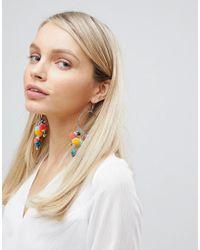 South Beach - Multi Pom Statement Earrings (+) - Lyst