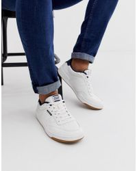 521eb1a6123 Reebok Npc Ii Trainers With Yellow Heel And Sole Detail in White for ...