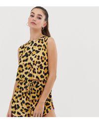 ASOS Asos Design Tall Animal Print Jersey Beach Shorts Two-piece