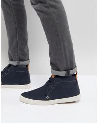 Call It Spring - Thaywien Hi Top Plimsolls In Navy - Lyst