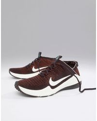 a917e41615342 Nike - Air Zoom Fearless Flyknit Trainers In Burgundy - Lyst