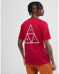 Huf - Triple Triangle T-shirt In Red - Lyst