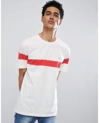 Farah - Haryln Block Stripe T-shirt In Red - Lyst