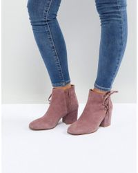 Hudson Jeans - Else Pink Suede Ankle Boots - Lyst