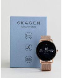 Skagen - Connected Skt5002 Falster Mesh Display Smart Watch In Rose Gold - Lyst