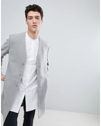 Native Youth - Collarless Overcoat - Lyst