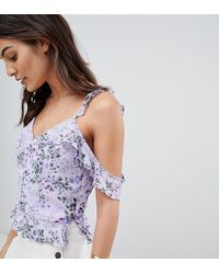 Oasis - Ditsy Ruffle Cami Top - Lyst