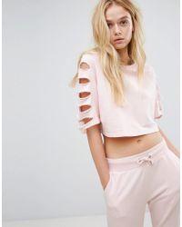 0153c530555edf On sale Hoxton Haus - Slashed Sleeve Sweatshirt - Lyst
