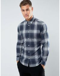SELECTED - Shirt In Slim Fit Check Cotton - Lyst
