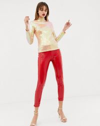 Warehouse - X Ashish Sequin leggings In Red - Lyst