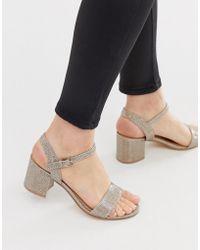 711cf905048 Lyst - Carvela Kurt Geiger Genna Platform Heeled Sandals in Metallic