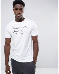 Mango - Man Neutral Print T-shirt In White - Lyst