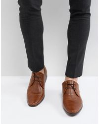 River Island - Lace Up Derby Shoes In Tan - Lyst