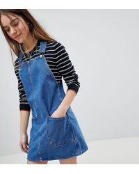 New Look - Pinafore Dress - Lyst