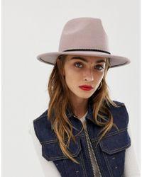 ASOS - Felt Panama Hat With Plait Braid Trim And Size Adjuster - Lyst