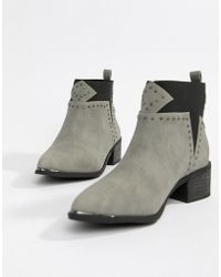 Missguided - Studded Western Boots - Lyst