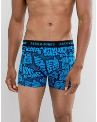 Jack & Jones - Printed Trunk With All Over Script - Lyst