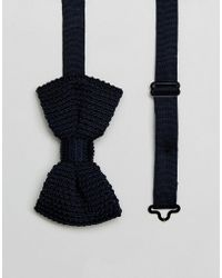 French Connection - Bow Tie In Navy - Lyst