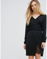 Vila - Wrap Dress - Lyst