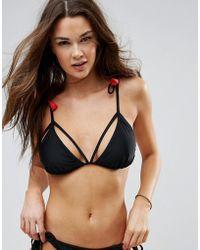 Vero Moda - Tassel Triangle Bikini Top - Lyst