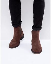 Bellfield | Suede Chelsea Boots | Lyst