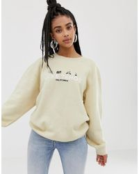 Daisy Street - Relaxed Sweatshirt With Lake Tahoe Embroidery - Lyst