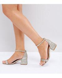 ASOS - Asos Honeydew Wide Fit Heeled Sandals - Lyst