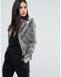 Forever Unique - Snake Print Jacket - Lyst