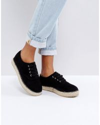 Truffle Collection - Truffle Lace Up Espadrille - Lyst