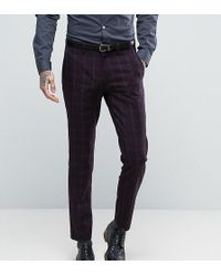 Only & Sons - Skinny Suit Trouser In Check - Lyst
