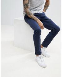 Tommy Hilfiger - Bleecker Slim Fit Chinos Back Flag Logo In Navy - Lyst