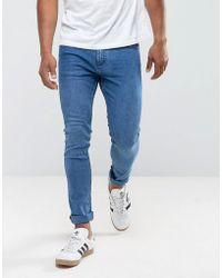 Mango - Man Skinny Jeans In Mid Wash - Lyst