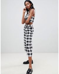 Whistles - Gingham Linen Mix Trousers - Lyst