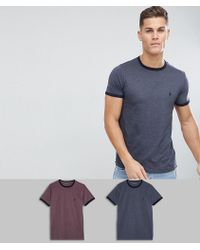 f1f0669d16d French Connection - 2 Pack Ringer T-shirts - Lyst