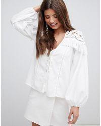Fashion Union - Blouse With Tassle Detail - Lyst
