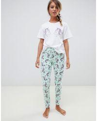 ASOS - Unicorn Pyjama Tee & legging Set - Lyst