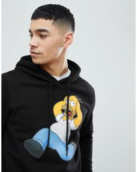 Bershka - Homer Simpson Hoodie In Black - Lyst