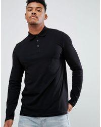 ASOS   Long Sleeve Jersey Polo   Lyst
