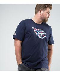 KTZ - Plus Nfl Tennessee Titans T-shirt In Navy - Lyst