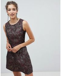 AX Paris - Jacquard Skater Dress - Lyst