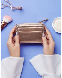ALDO - Nydiling Rose Gold Zip Wallet - Lyst