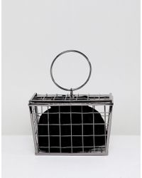 ASOS - Design New Shopping Basket Cage Bag - Lyst