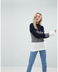 B.Young - Color Block Sweater - Lyst